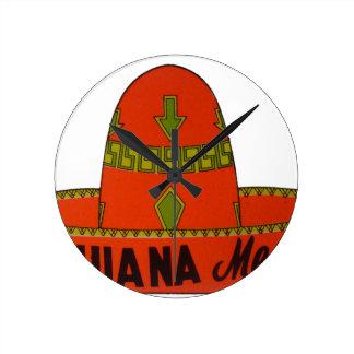 Tijuana Travel Sticker Round Clock
