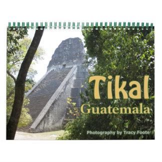 Tikal Guatemala 2018 Calendar - Tikal Ruins