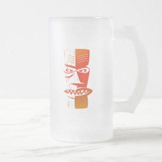 Tiki 16 Oz Frosted Glass Beer Mug