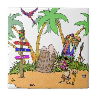Tiki Alcohol Island Tile