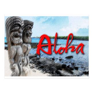 Tiki Aloha Postcard