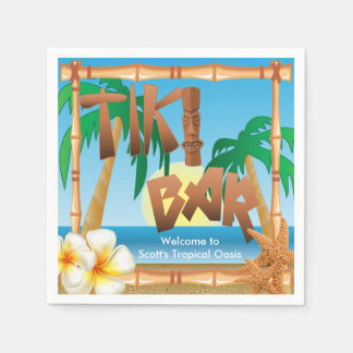 Tiki Bar - A Tropical Oasis Disposable Napkins