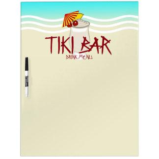 Tiki Bar Drink Menu Dry Erase Board