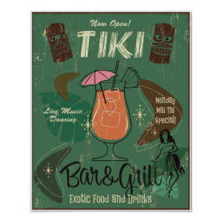 Tiki Bar&Grill Poster
