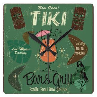 Tiki Bar&Grill Wall Clock