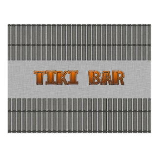 Tiki Bar Postcard