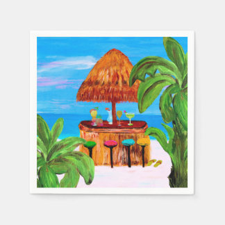 Tiki beach bar napkins disposable napkin