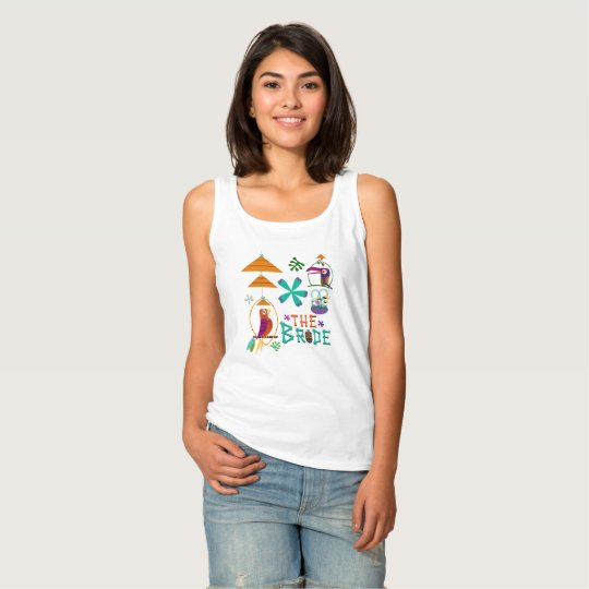Tiki Birds Modern Vintage Retro THE BRIDE Custom Tank Top