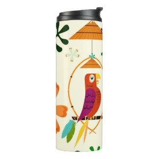 Tiki Birds Modern Vintage Retro Whimsical Thermal Tumbler