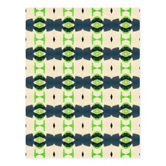 Tiki design pattern postcard