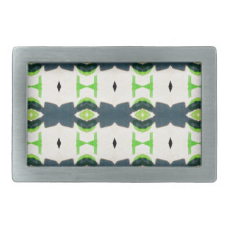 Tiki design pattern rectangular belt buckle