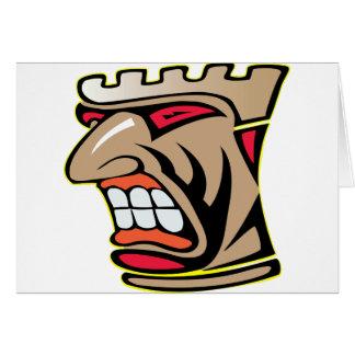 Tiki Face Totem Card