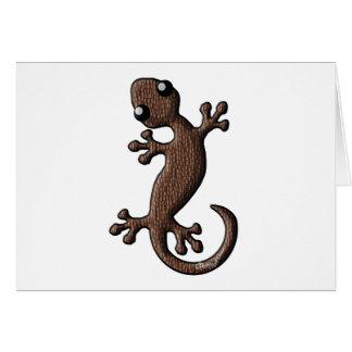 Tiki Gecko Card