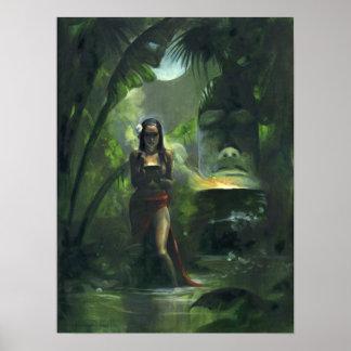 Tiki Goddess Poster