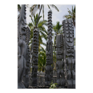 Tiki Guardians at Place of Refuge - Print