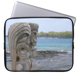 Tiki Guardians in Kona, Hawaii Laptop Sleeve