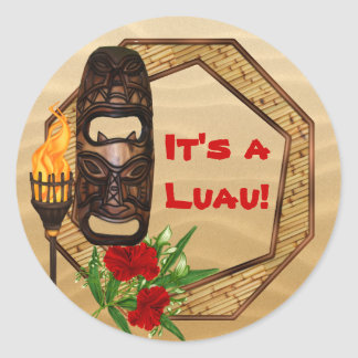 Tiki Hawaiian Luau Stickers