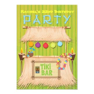 Tiki Hawaiian Tropical Summer Party Invitation