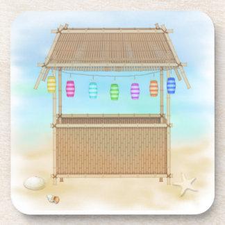 Tiki Hut Cork Coaster Set
