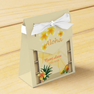 Tiki Hut Party Favor Box