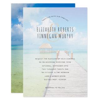 Tiki Hut Tropical Paradise Wedding Invitation