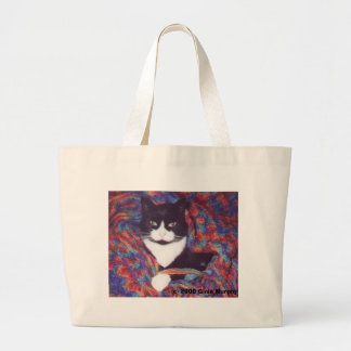 """Tiki in Doug's Afghan"" Large Tote Bag"