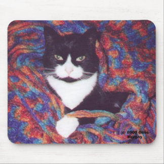 """Tiki in Doug's Afghan"" Mouse Pad"
