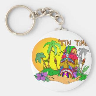 TIKI Island TIME Keychain