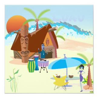 Tiki/Luau at the beach Card