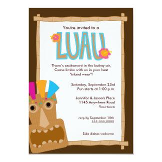 Tiki Luau Invitation