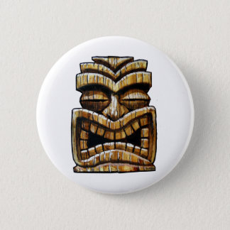 Tiki Man 2 Inch Round Button