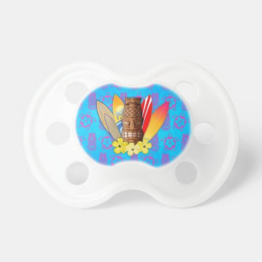 Tiki Mask And Surfboards Baby Pacifier