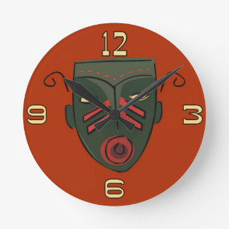Tiki Mask Clock