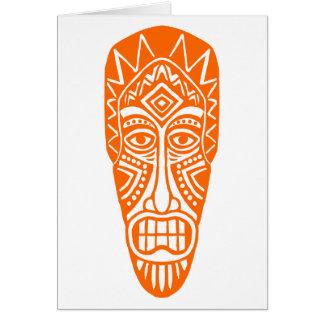 Tiki Mask - Orange Card