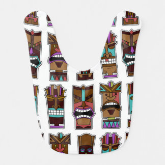 Tiki Mask Pattern Bib