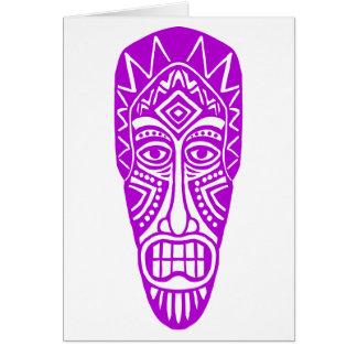Tiki Mask - Purple Card