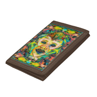 TIKI MASK TROPICAL TRIFOLD WALLETS