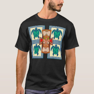 Tiki Mask Turtle T-Shirt