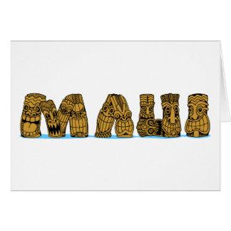 Tiki Maui Card