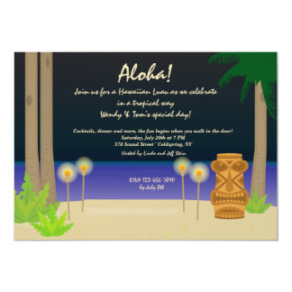 Tiki Night Party Invitation