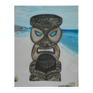 tiki on maui beach 004 - Copy Postcard