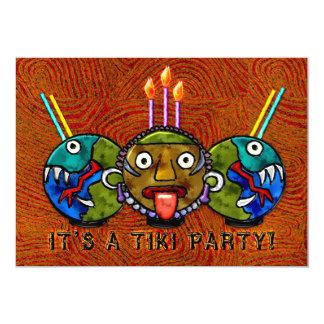"Tiki Party (2-Sided Invitation) 5"" X 7"" Invitation Card"