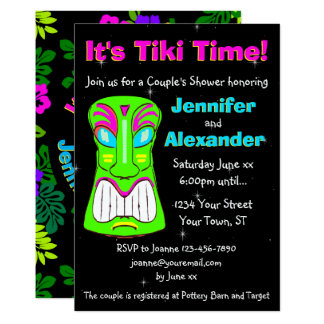 Tiki Party Couple's Shower Invitation