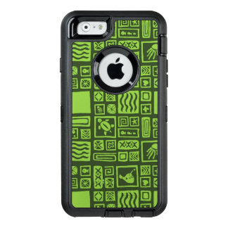 Tiki Pattern OtterBox Defender iPhone Case