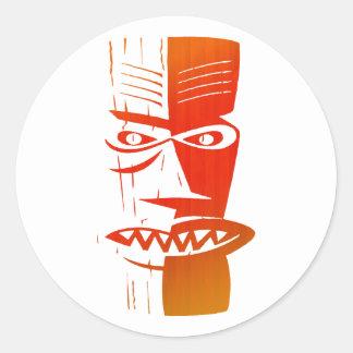 Tiki Round Sticker