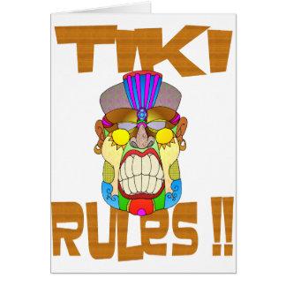 TIKI RULES CARD