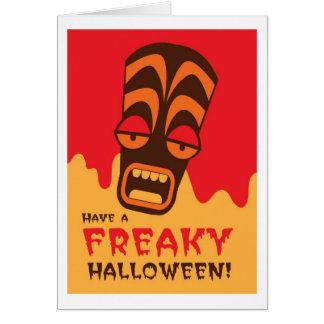 TIKI SCREAM! have a FREAKY Halloween! Card
