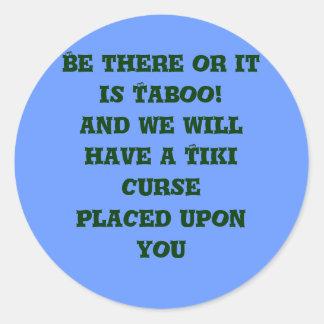 Tiki Taboo Round Sticker