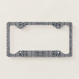 Tiki Tapa cloth license plate holder License Plate Frame