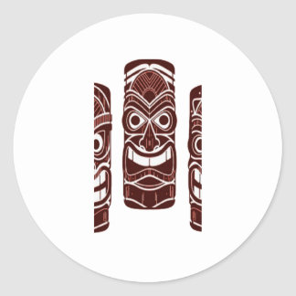 Tiki Time Classic Round Sticker